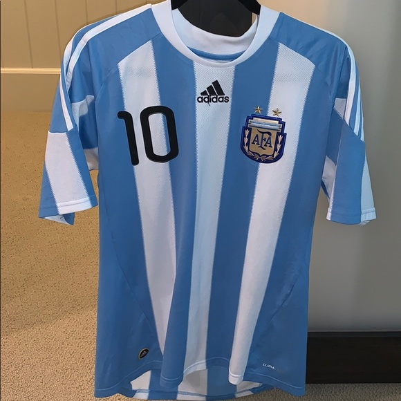 new arrival 2e727 f4a2b 2010 World Cup Authentic Argentina Messi Jersey